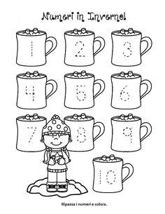 Winter trace and count FREE Here are three winter-themed tracing and counting pages for early learners. Count the sets, recognize and trace the numbers, add extra details and color if desired. If you find these pages useful, I would LOVE some feedback! Numbers Preschool, Preschool Lessons, Preschool Classroom, Preschool Worksheets, Kindergarten Math, Classroom Activities, Learning Activities, Winter Preschool Activities, Preschool Writing