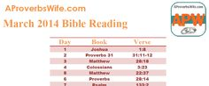 FREE Printable April Bible Reading Plan |1 Verse a Day