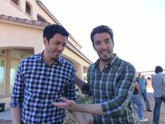 Behind-the-scenes of the new season and look - @Drew Scott and @MrSilverScott both rocking plaid!