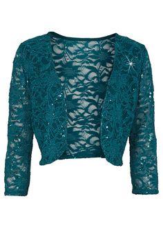 Szmaragdowe eleganckie bolerko koronkowe z cekinami, idealne na wesele, sylwestra lub studniówkę.  #bolerko #bolero #wesele #studniówka #sylwester Flirt, Elegant, Stretch Jeans, Outfit, Knitwear, Cashmere, Men Sweater, Blouse, Long Sleeve