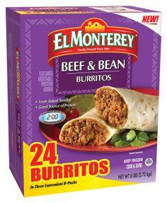 MEGA PACK BEEF & BEAN BURRITOS 24ct