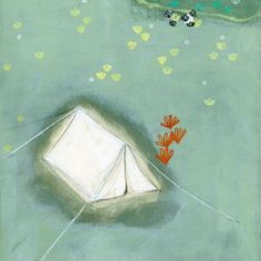 white tent | by gretchenmist on etsy | reminds me of camping outside under the stars.