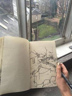 Sketching Tips, Urban Sketching, A Level Art Sketchbook, Building Sketch, Sketches Of People, Perspective Art, Art Diary, Art Drawings Sketches Simple, Built Environment