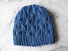 0d6b341fbe3 Blue knit beanie  handknit hat in luxury wool alpaca yarn. Made in Ireland.  Original design. Chunky knit beanie. Men s beanie. Women s hat