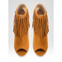 Botki Boho Fringe Tan Peep Toe Booties ❤ liked on Polyvore featuring shoes, boots, ankle booties, fringe ankle booties, peep-toe booties, bohemian boots, boho boots and tan ankle booties