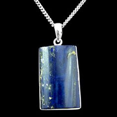 Lapis Lazuli & Silver Pendant - Rectangle 30mm http://www.crystalage.com/online_store/lapis-lazuli-and-silver-pendant17.cfm