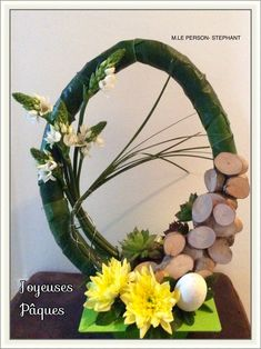 Easter egg shape - Lilly is Love Ikebana Arrangements, Easter Flower Arrangements, Easter Flowers, Floral Arrangements, Deco Floral, Arte Floral, Easter Specials, Diwali Craft, Succulent Wreath