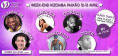 week-end kizomba paixao (stages + soirée) avec entre autres, Mafalda, DJ Babacar ...  Organisé par Marseille Danse Academy
