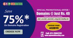 Save 75% on Domain Registration