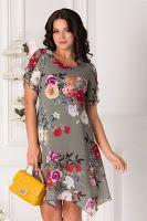 rochie-de-vara-2019-12 Short Sleeve Dresses, Dresses With Sleeves, Summer Dresses, Floral, Fashion, Embroidery, Moda, Sleeve Dresses, Sundresses