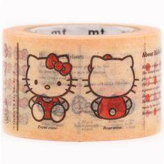 Hello Kitty encyclopedia dictionary mt Washi Masking Tape deco tape 2