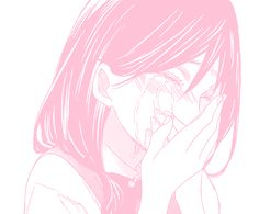 The best pink aesthetic sad anime girl - india's wallpaper Manga Girl, Anime Girl Pink, Art Anime, Anime Kunst, Anime Artwork, Manga Anime, Otaku Anime, Crying Aesthetic, Aesthetic Drawing