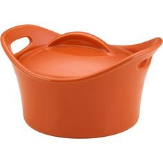 Rachael Ray 18-Ounce Mini Round Casserole, In RED x4