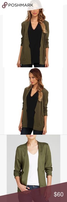 Alternative Apparel Twill Notch Rayon Blazer New with tags!! This beautiful Alternative Apparel Notch Blazer in camo green is now completely sold out at Bloomingdales and Alternatives website! Boring blazers be gone! This Rayon Twill Notch Blazer features streamlined styling and notch accents at bottom of lapel. Rayon Twill 100% Rayon Alternative Apparel Jackets & Coats Blazers