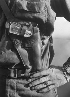 Sweetheart Grips on a 1911A1, in M7 holster, WWII
