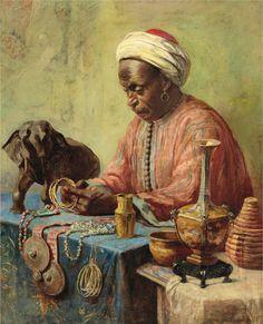 THE JEWELRY MAKER - by Gyula Tornai 1861 - 1928
