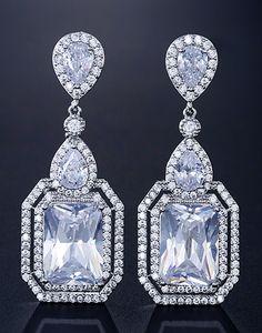 Cercei mireasa Square Glamour Decorative Plates, Swarovski, Jewellery, Accessories, Patron Couture, Jewels, Schmuck, Jewelry Shop, Jewlery