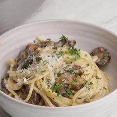 Pasta Recipes Video, Creamy Pasta Recipes, Recipe Of Pasta, Veggie Recipes, Dinner Recipes, Cooking Recipes, Healthy Recipes, Healthy Pastas, Creamy Mushroom Pasta