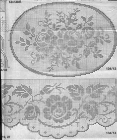 This Pin was discovered by Sig Easiest Crochet Frills Border Ever! Thread Crochet, Crochet Stitches, Knit Crochet, Filet Crochet Charts, Crochet Borders, Crochet Curtains, Crochet Tablecloth, Embroidery Patterns, Cross Stitch Patterns