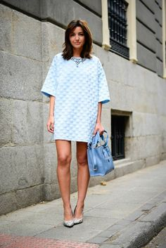 baby blue in Seville - Lovely Pepa by Alexandra Fashion Story, Blue Dresses, White Dress, Short Sleeve Dresses, My Style, Lady, Womens Fashion, Casual, Stuff To Buy