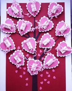 Подарок на День святого Валентина своими руками - Валентинки из бумаги