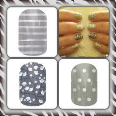 Gray and Silver Horizontal Pinstripe & Metallic Berry Jamberry Nails wrap Jamberry Nails Tips, Jamberry Nail Wraps, Nail Manicure, Nail Polish, Cute Nails, Pretty Nails, Nail Time, Stylish Nails, Nail Stickers