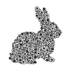 It's a bunny made of flowers, what's not to like?  Flower Rabbit - PRINT (15.5cm x 20.5cm). $31.00, via Etsy.