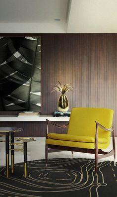 ESSENTIAL HOME | Mid-century modern design at @isaloni | Hudson chair and Konstantin side table by @essentialhomeeu | www.bocadolobo.com | #interiordesign #design #furniture