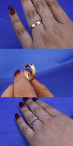 Bands without Stones 92852: 10K Gold 4Mm Classic Plain Wedding Band With Milgrain Edge Size 8 BUY IT NOW ONLY: $62.99