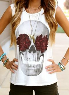 Skull & Roses Top - Tops - Shop