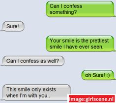 flirting signs over text