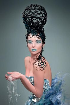 Fashion Show Hairstyles Avant Garde Crazy Hair 65 Best Ideas Hair Fashions – Hair Models-Hair Styles Creative Hairstyles, Up Hairstyles, Avant Garde Hairstyles, Fantasy Hairstyles, Fashion Hairstyles, Crazy Hair, Big Hair, Pelo Editorial, Pelo Retro
