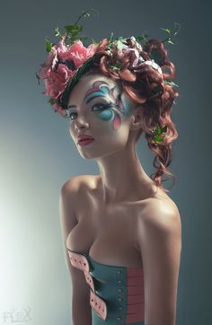 30 Awesome Hairstyles For Thick Curly Hair Pictures Thick Curly Hair, Curly Hair Styles, Hair Rainbow, Maquillage Halloween, Fantasy Makeup, Fantasy Hair, Costume Makeup, Hair Pictures, Hair Art