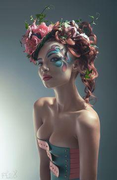 Model: Ksenia Dudareva  MUA: Valeriya Solomanyuk  Hair Style: Juliya Evseeva  Florist: Galina Yurina