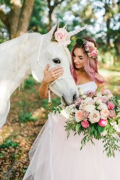 Inspiration for a unicorn-inspired wedding with gorgeous pink touches and accents. Romantic Wedding Receptions, Rustic Wedding Flowers, Intimate Weddings, Wedding Pics, Wedding Shoot, Wedding Themes, Chic Wedding, Wedding Bouquets, Wedding Styles