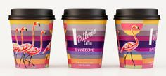 Vitoria coffee takeaway cup flamingo