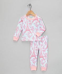 elephant pj set Pink Too Cute Elephant Ruffle Pajama Set - Infant ...