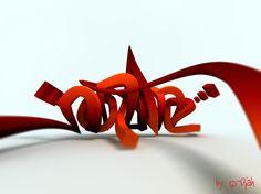 3D Graffiti - 3D Typography Design Modelling