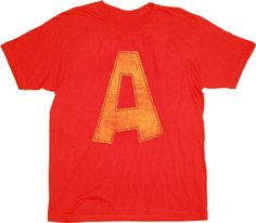 Alvin and the Chipmunks Alvin's A Adult Distressed Red T-shirt