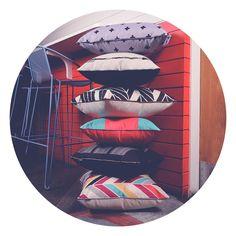 Morning! Here's a sweet little breakfast stack to start your day #cushions #homewares #homedecor #decorating #interior #interiors #blackandwhite #prints #crosses #herringbone #arrows #gabeandnix #1daytogo!