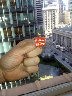 Looking down at Market Street, San Francisco from his desk, Michael Kopp shares his FAVorite Eloqua flair.