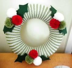 knit wreath