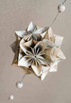 kusudama from old books