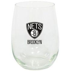 Brooklyn Nets 15oz. Stemless Wine Glass - $11.99