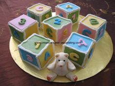 Amazing square shapes of baby shower cupcakes