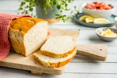 Hjemmelaget loff Cornbread, Dessert, Baking, Ethnic Recipes, Millet Bread, Desserts, Bakken, Postres, Bread