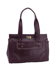 Spencer and Rutherford - Handbags - Work Satchel - Valentina - Purple Lake
