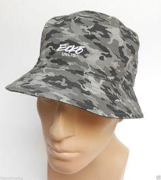 ae151d04fb8 Ecko Unltd CAMO Bucket Hat REVERSIBLE Green Gray  Ecko  Bucket  NewHatCity