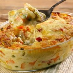 Legumes gratinados – Best Art images in 2019 I Love Food, Good Food, Yummy Food, Easy Cooking, Cooking Recipes, Vegetarian Recipes, Healthy Recipes, Portuguese Recipes, Food Porn