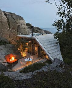Knapphullet located in Sandefjord, Norway and designed by Architect Lund Hagem. #elegantlife